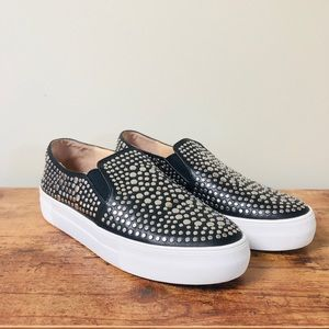 Vince Camuto Kindra Black Studded Sneakers